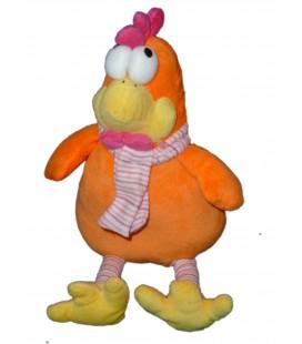 Peluche doudou POULE orange FIZZY Joyeuses Paques - 32 cm