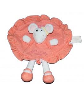 Doudou plat rond souris Brioche Little Candy Mouse La Halle