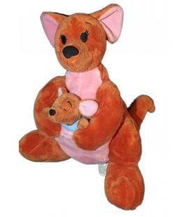 Peluche Doudou ROO Petit Gourou et sa Maman Kangourou Winnie 28 cm Kangaroo Disney Disneyland Resort