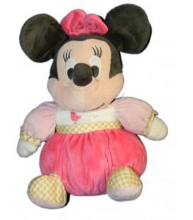 Doudou peluche MINNIE Boule rose Oiseau 32 cm Disney Nicotoy 587/3339