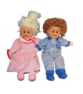 Lot 2 poupées Pimprenelle et Nicolas 32 cm Nounours Bonne Nuit les Petits A voir !