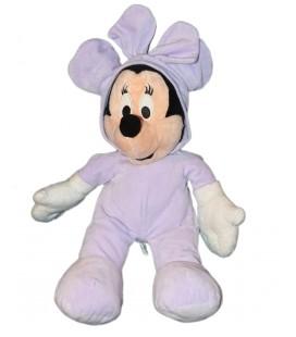Grande Peluche Doudou Minnie Pyjama Mauve Disney Nicotoy 42 cm