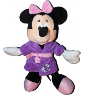 Peluche Doudou Minnie Pyjama Peignoir violet Disney Nicotoy 25 cm Taché