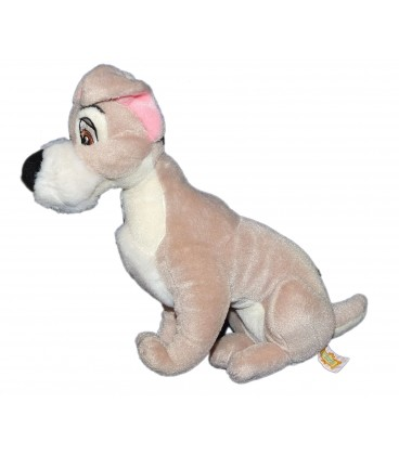 RARE ET COLLECTOR - Doudou peluche chien Clochard LA BELLE ET LE CLOCHARD Disney Classic Trudi 28 cm