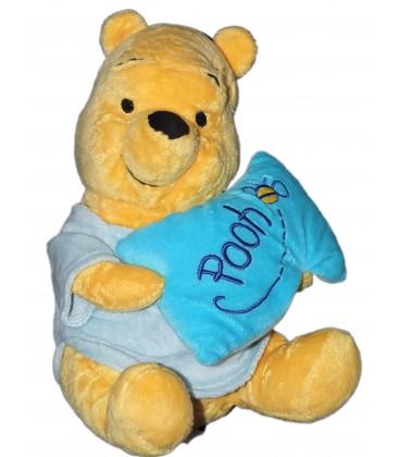Peluche Doudou WINNIE Coussin oreiller Abeille Pooh 25 cm Disney Nicotoy 587/9664