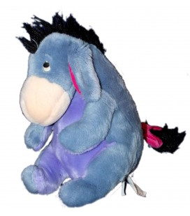 Doudou peluche BOURRIQUET assis Sitting Eeyore Disney store Exclusive 32 cm Queue à scratch