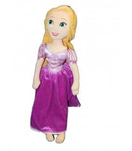 Grande peluche Doudou Raiponce Disney Store 50 cm Robe violette mauve