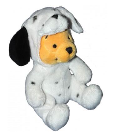 Peluche Doudou WINNIE assis Déguisé en chien Dalmatien 16 cm Disney Nicotoy