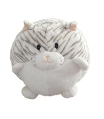 Doudou peluche CHaT blanc gris animal alley - Toys 'r' Us - 18 x 23 cm