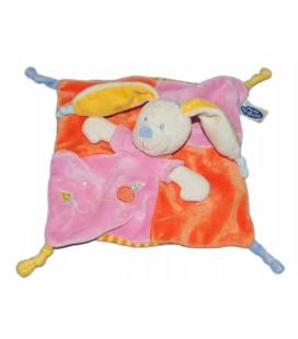 Doudou plat Chien Lapin Rose orange jaune MOTS D ENFANTS Poussin oiseau maison