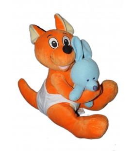 Peluche doudou Kangourou WALIBI bébé 30 cm et son doudou Belpark