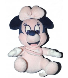 Doudou peluche Baby MINNIE rose Disney Nicotoy 22 cm