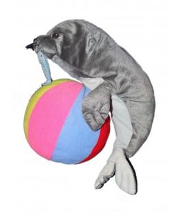 Peluche doudou Phoque gris Otarie poisson Ballon IKEA 38 cm