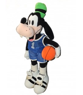 RARE ET COLLECTOR ! Peluche Dingo Goofy Basketeur 45 cm Disneyland Paris Disney