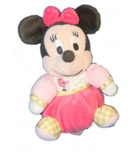 Petit Doudou MINNIE Boule rose Oiseau 16 cm Disney Nicotoy 587/3337