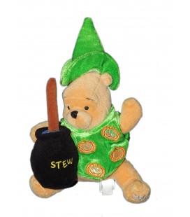 COLLECTOR 2002 Peluche Halloween Doudou Winnie l'Ourson Cuisinier citrouille Stew Pooh 24 cm Disney Store