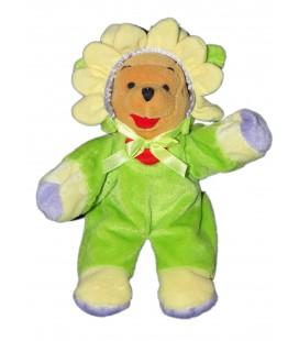 Collector - Peluche doudou Winnie l'Ourson déguisé fleur Disney 26 cm