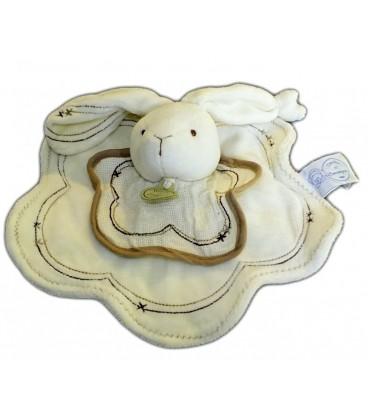 DOUDOU ET COMPaGNIE - LaPIN plat blanc écru crème Marron beige - 24 cm