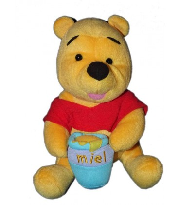 Peluche Winnie L Ourson Pot De Miel Disney Mattel 24 Cm Destock Baby