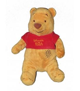 Peluche Winnie the pooh nez marron Carré griffure rectangle Zig zag marron Couture Disney 35 cm