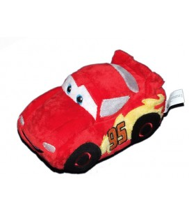 Peluche Doudou Voiture Flash Mc Queen CARS Disney Nicotoy Grelot 20 cm