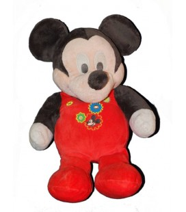 Doudou peluche MICKEY pyjama rouge Disney Nicotoy 60 cm