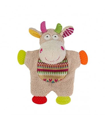 Huggy toy FUNNY COW Peluche doudou Vache BABYONO