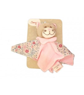 Doudou plat CHAT rose Marianne - Bengy Amtoys - 2010