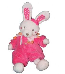 Doudou Peluche Lapin rose fushia TEX Baby Carrefour Hibou 32 cm