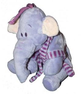 NICOTOY Doudou peluche éléphant mauve LUMPY Pyjama Peignoir 22 cm Disney 587/5033