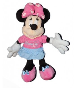 Peluche Disney MINNIE Disneyland Paris Tour Eiffel H 28 cm