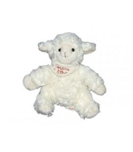 Doudou peluche Mouton agneau blanc Foulard HISTOIRE D'OURS - 20 cm