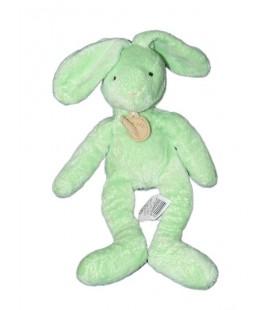 Doudou Lapin vert BABY NAT' Paris 25 cm