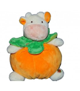 Doudou orange La Vache Baby Nat 16 cm