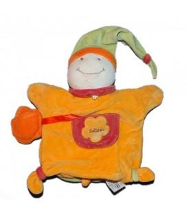 DOUDOU ET COMPAGNIE Marionnette Tortue Lotidou orange vert