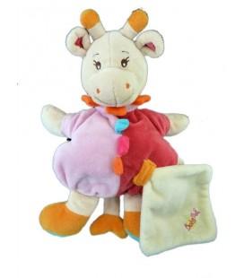 Doudou Girafe rose Mouchoir Baby Nat'
