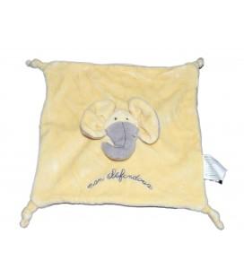 Doudou plat Elephant jaune Mon Elefandoux TCF TOUT COMPTE FAIT 4 noeuds