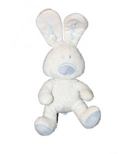 Doudou peluche lapin blanc L'Enfant Do 3 suisses Nounours 30 cm