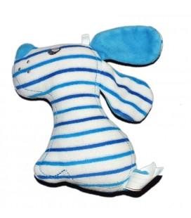 Doudou chien bleu blanc Sucre d'Orge 16 cm