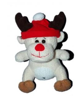 Doudou Peluche Renne Bonnet rouge Cobico 20 cm