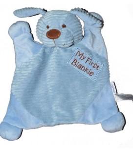 Doudou Plat chien bleu My First Blankie Babies R us