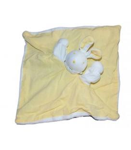 Doudou plat Lapin blanc jaune MRSA Moulin Roty