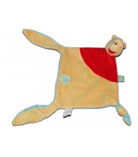 Doudou plat Winnie Disney Baby Nicotoy - Fleur - 3 noeuds 587/5088