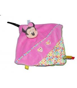 Doudou plat MINNIE rose coeur Disney Baby Nicotoy 587/1069