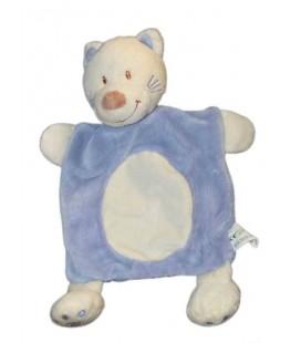 Vêtir Avda - Doudou Plat CHAT bleu mauve rond blanc Kiabi
