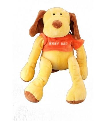 Peluche doudou CHIEN jaune marrron orange - Bonnet - 38 cm - BaBY NaT Babynat