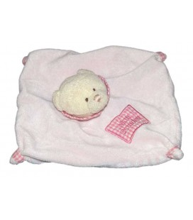 Doudou plat Ours rose Mon Doudou CP International Vichy