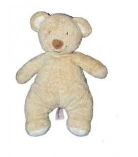 Doudou Peluche Ours beige Pommette 22 cm