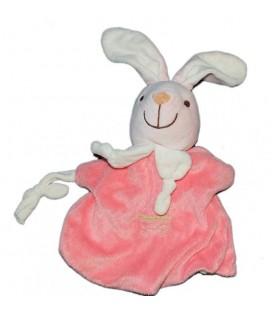 Doudou Marionnette Lapin rose Playkids Poussette