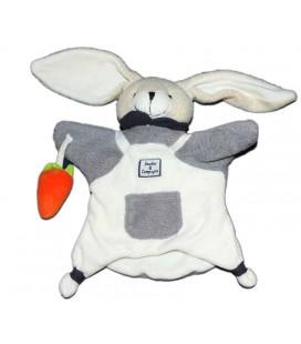 Doudou et Compagnie Marionnette Lapin blanc gris pcohe Carotte